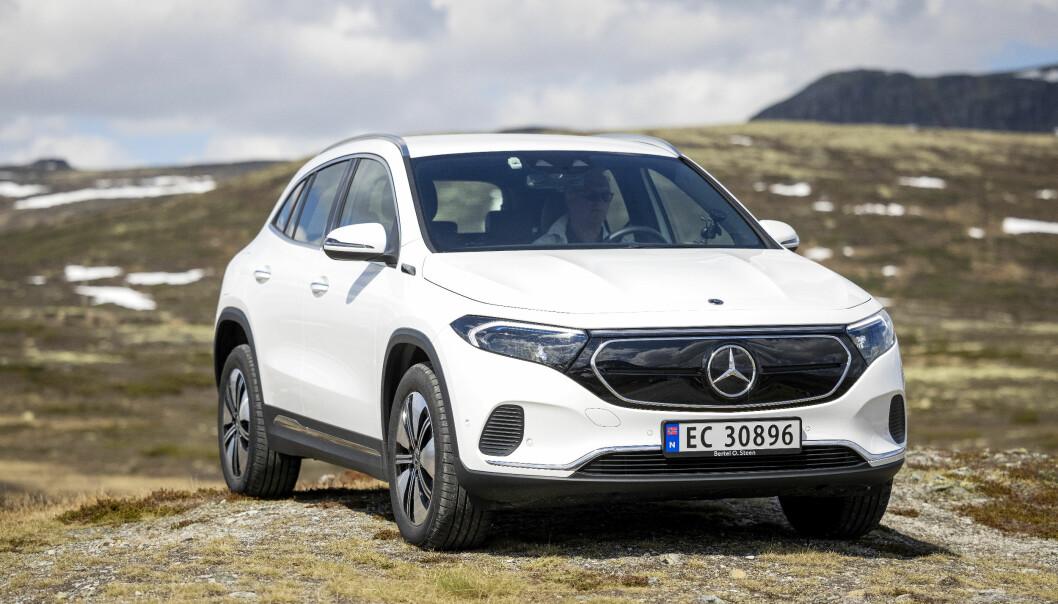 UJEVN: Mercedes EQA har noen opplagte styrker og noen like opplagte svakheter.