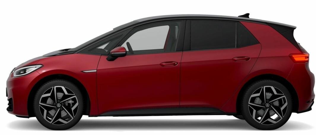 MER SPORTY: Med ny, eksklusiv farge og omfattende utstyr kan ID.3 Sport (204 eller 150 hk), bestilles fra nå, fra rett over 300.000 kr.
