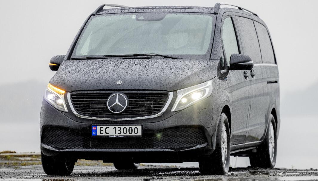 ELEKTRISK V: Med EQV har Mercedes gitt V-klasse-kundene det elektriske alternativet som muliggjør en elbil-klassereise også for storfamiliene.