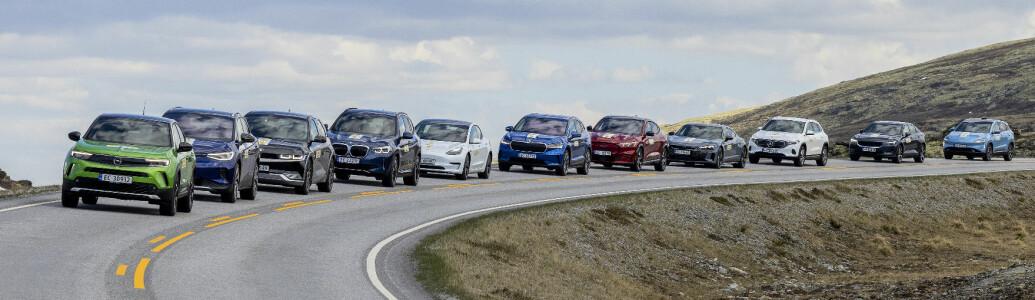 88 elbiler fra A til Å i rekkeviddetest