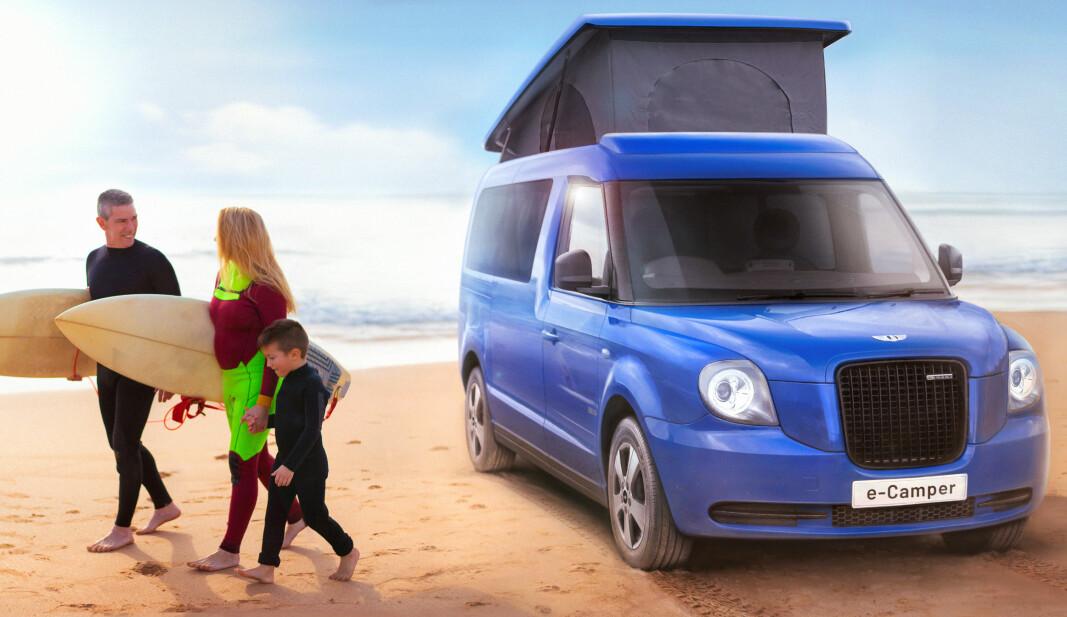 LIVSSTIL-BIL: Den ideelle campingbilen for den aktive familie? Det satser Geely-eide LEVC på med sin e-Camper.