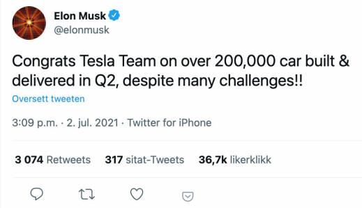 Volvo og Tesla med rekordtall