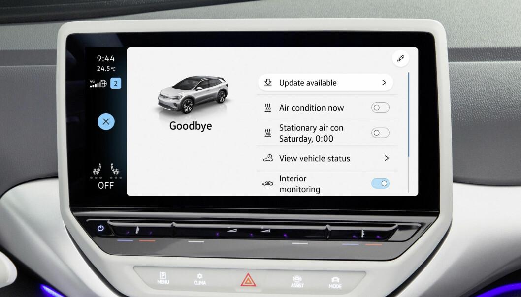 """<span class=""""font-weight-bold"""" data-lab-font_weight_desktop=""""font-weight-bold"""">NY BIL? TRYKK HER:</span> VW-sjefene sier muligheten for OTA er «ekstremt viktig for Volkswagens fremtidige suksess»."""