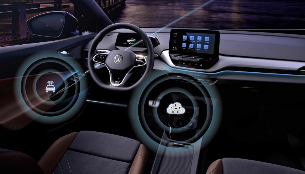 TAR NYTT STEG: VW blir første volumprodusent med jevnlig programvare-oppdatering over nettet.