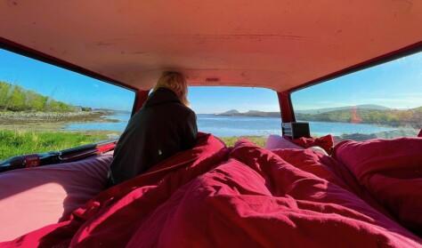 Bilen er hotellrommet med den beste utsikten