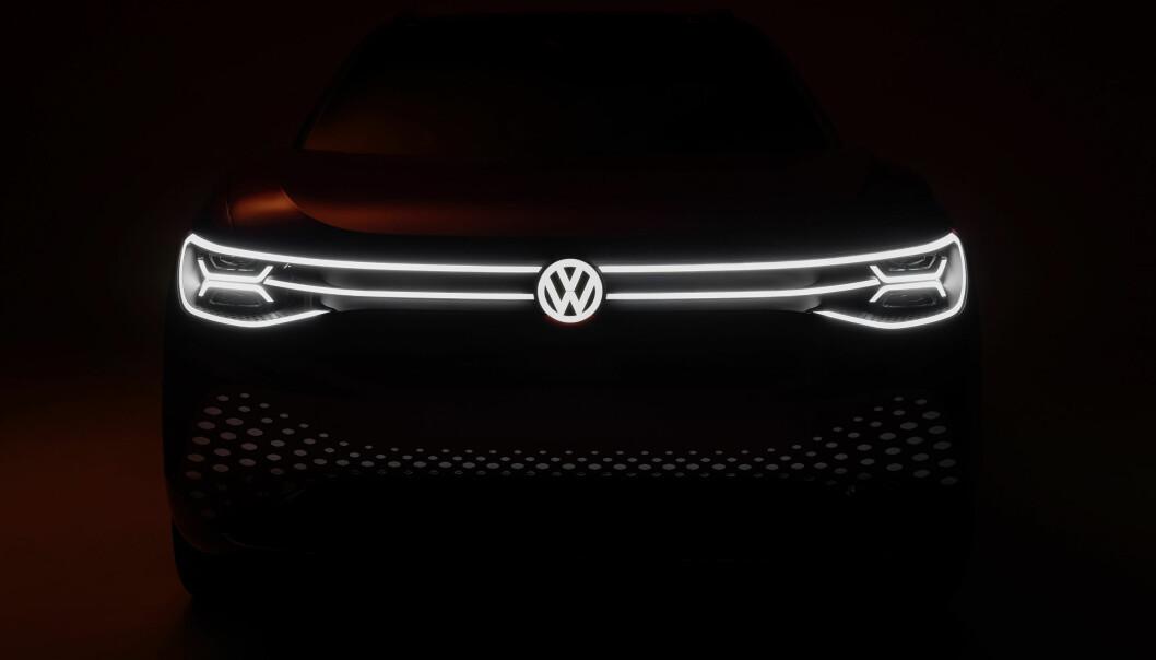 KJENT FJES: VW ID.8 får garantert samme lyssignatur som avbildede ID.6.
