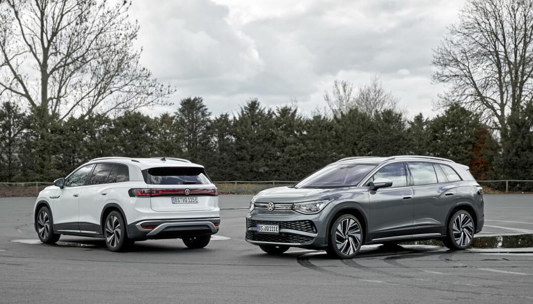 "<span class="" font-weight-bold"" data-lab-font_weight_desktop=""font-weight-bold"">STØRRE ENN ID.4:</span> ID.6 er den foreløpig største el-SUV-en til Volkswagen. Nykommeren ID.8 blir enda større, og er neppe primært tiltenkt det europeiske markedet."