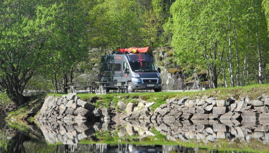 TURIDYLL: Med bobil blir det enda enklere å ta pause på vakre steder langs veien.