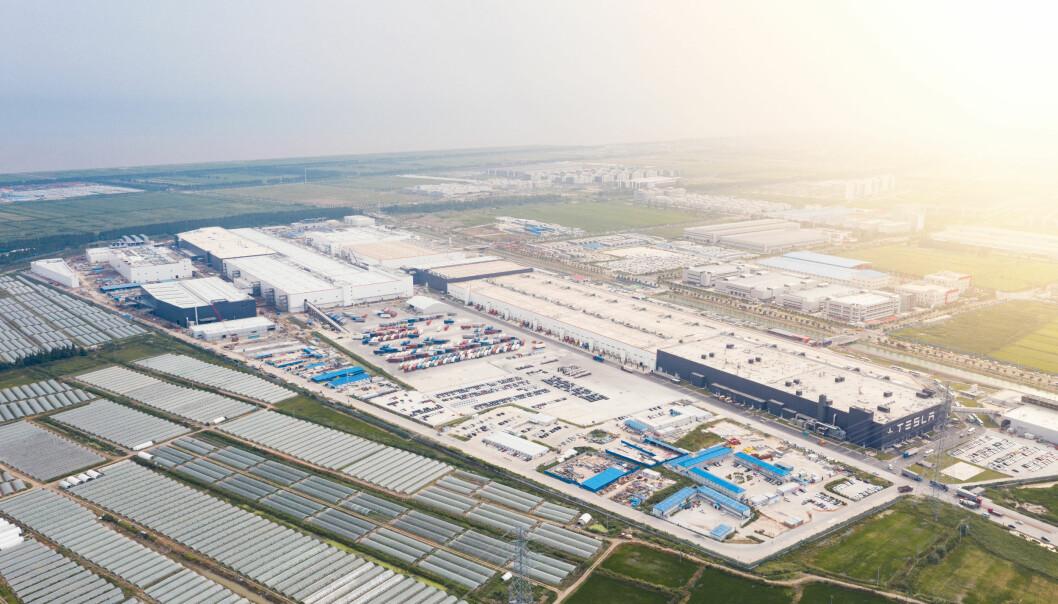 PENGEMASKIN: Den nye gigantfabrikken i Shanghai har bidratt kraftig til Teslas inntektsvekst.
