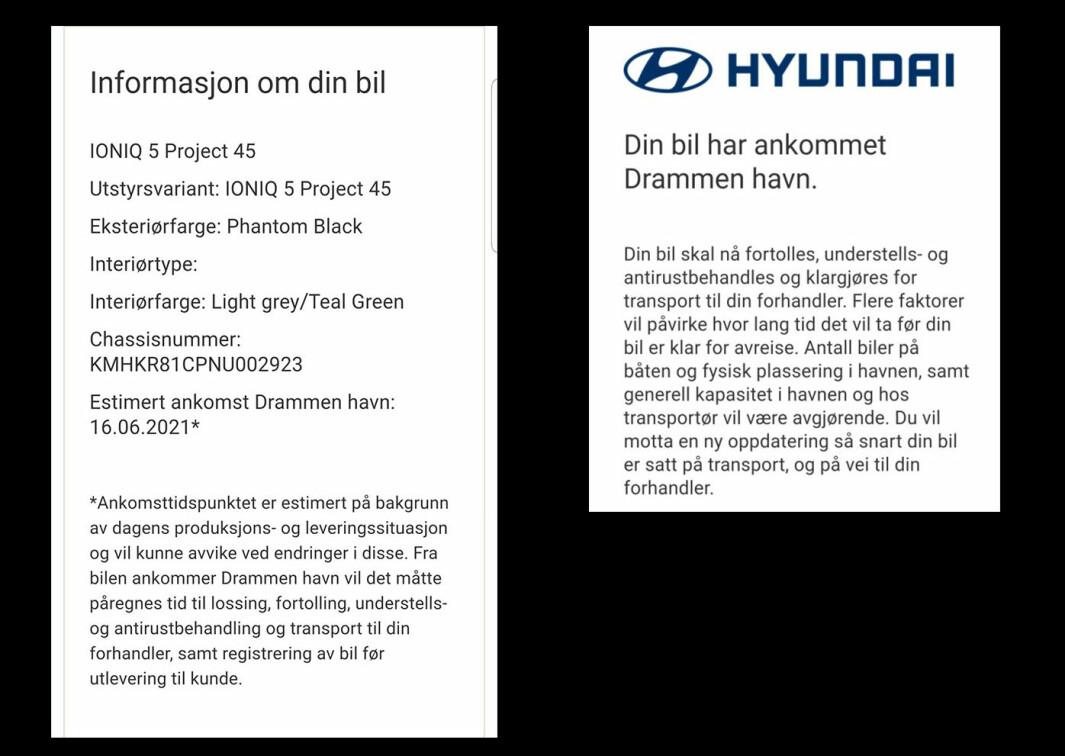 "<span class=""font-weight-bold"" data-lab-font_weight_desktop=""font-weight-bold"">KORTFATTET: </span>Informasjon kunden mottok fra Hyundai frem til 16. juni"