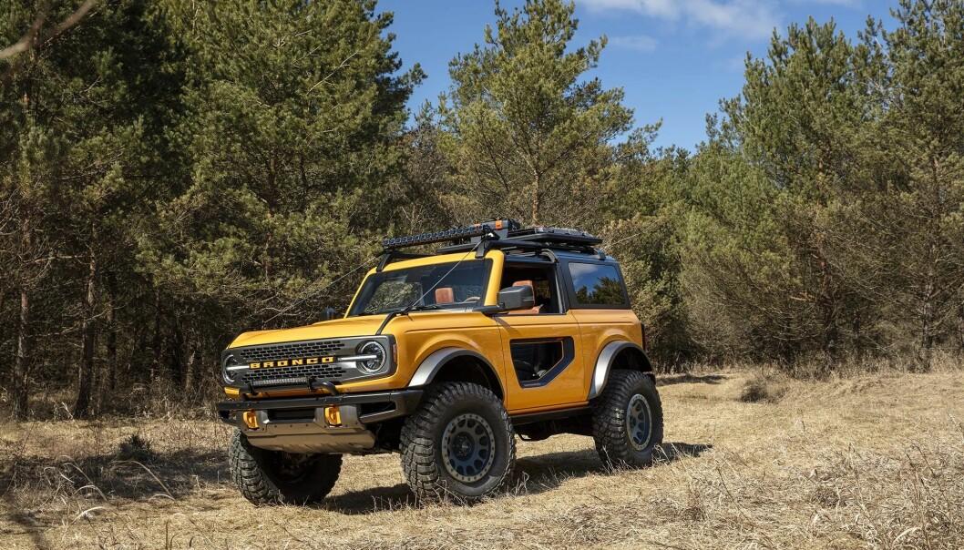 PENGEMASKIN: Sammen med elbilen Mustang Mach-e er det for en stor del denne tøffingen, Ford Bronco, som står for økningen i inntjening for amerikaneren.
