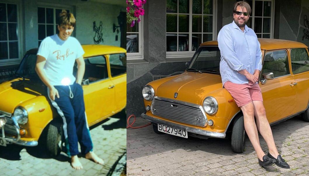 EVIG DIN: Bjørn Vidar Lazar Braathen har funnet tilbake til sin første bilkjærlighet, en Mini 850.