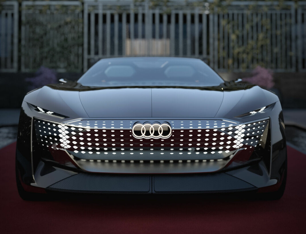 EUROGLIS: Og det er langt fra bare fronten som er spektakulær på Audis nyeste konseptbil, skysphere concept.