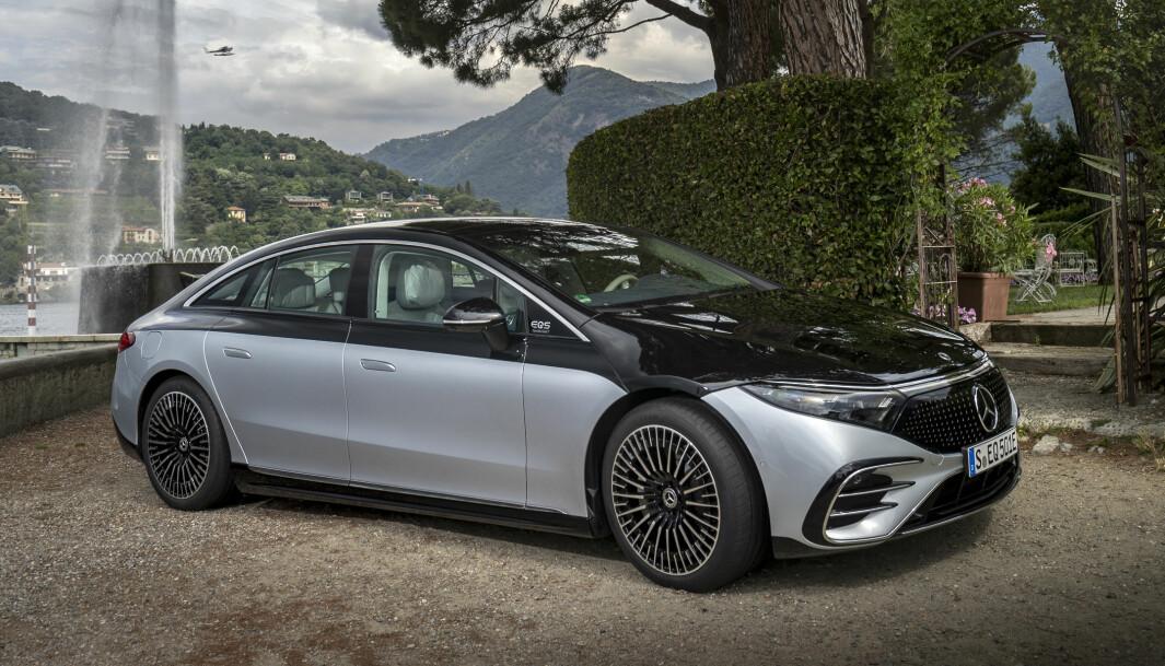 ETTERTRAKTET: Mercedes EQS blir møtt med stor interesse her i Norge.