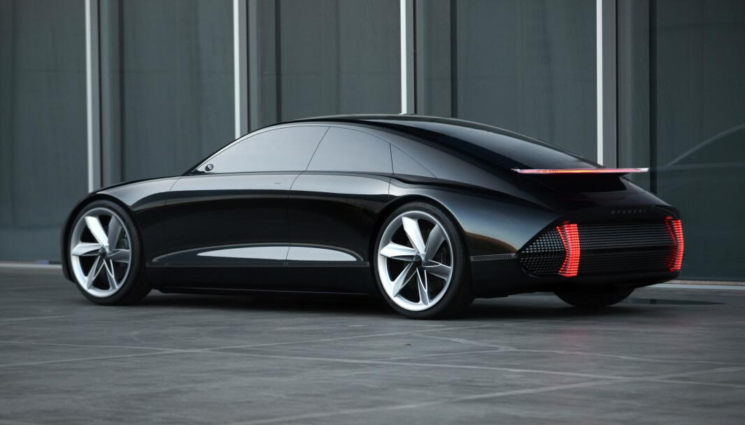 SPENNENDE: Ioniq 6 er basert på denne konseptmodellen, og blir trolig ikke så ulik.