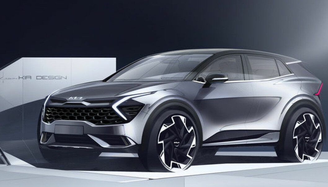 TØFF: Skissene av Kia Sportage underbygger det alle interesserte allerede vet: Dette blir en spennende bil.
