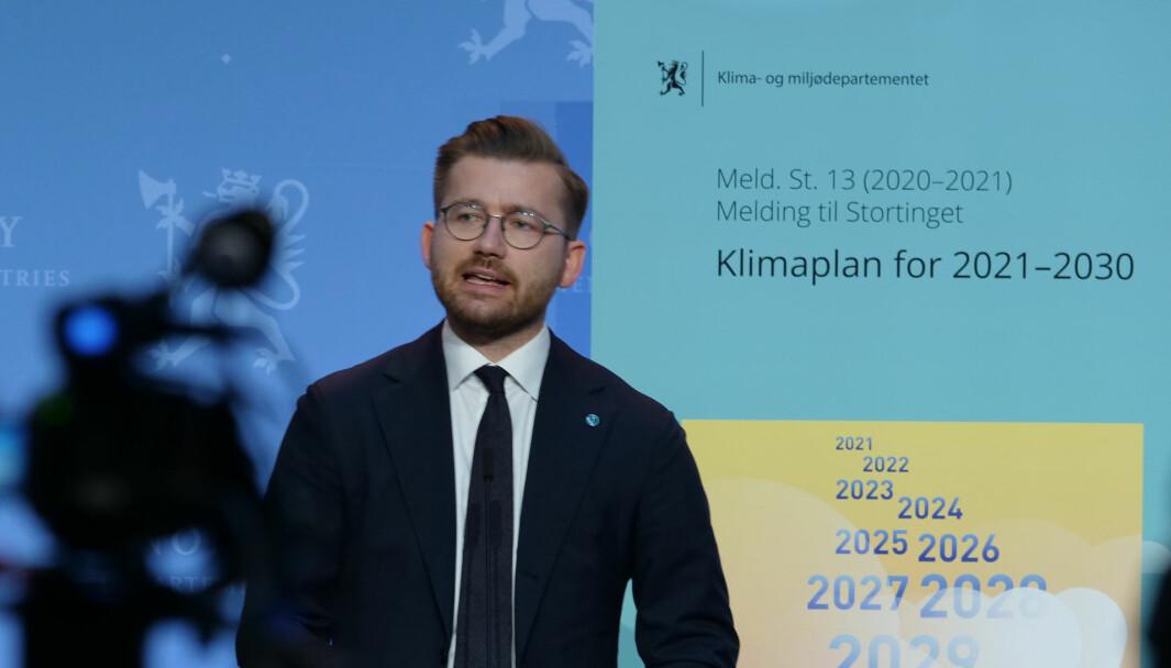 HAR KLIMAPLAN, TRENGER LADEPLAN: Klima- og miljøminister Sveinung Rotevatn.