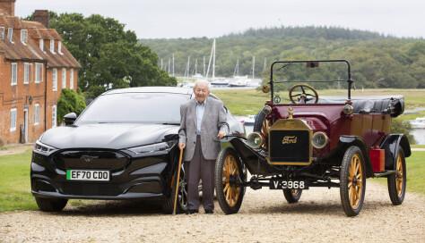 Opplært i T-Ford, nå kjører Harold (101) Fords nye elbil