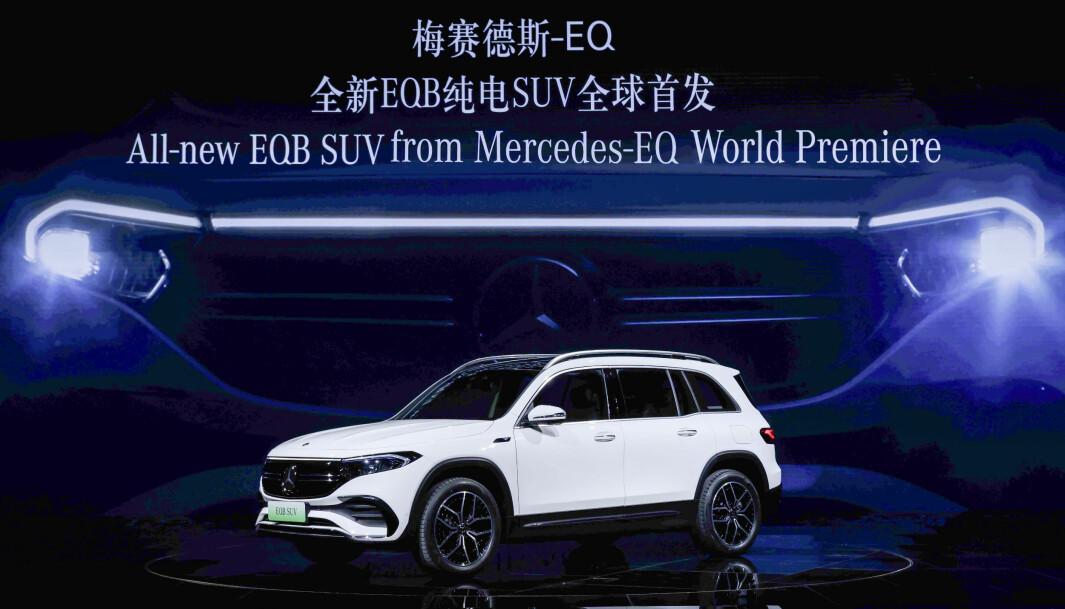 "<span class=""font-weight-bold"" data-lab-font_weight_desktop=""font-weight-bold"">EUROPADEBUT:</span> Mercedes viste EQB i Shanghai i vår."