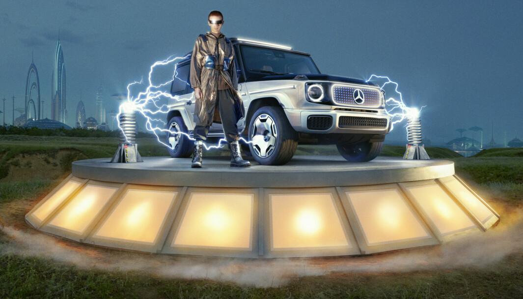 HALLO, JORDBOERE: Mercedes viser frem sine planer for en elektrisk Geländerwagen.