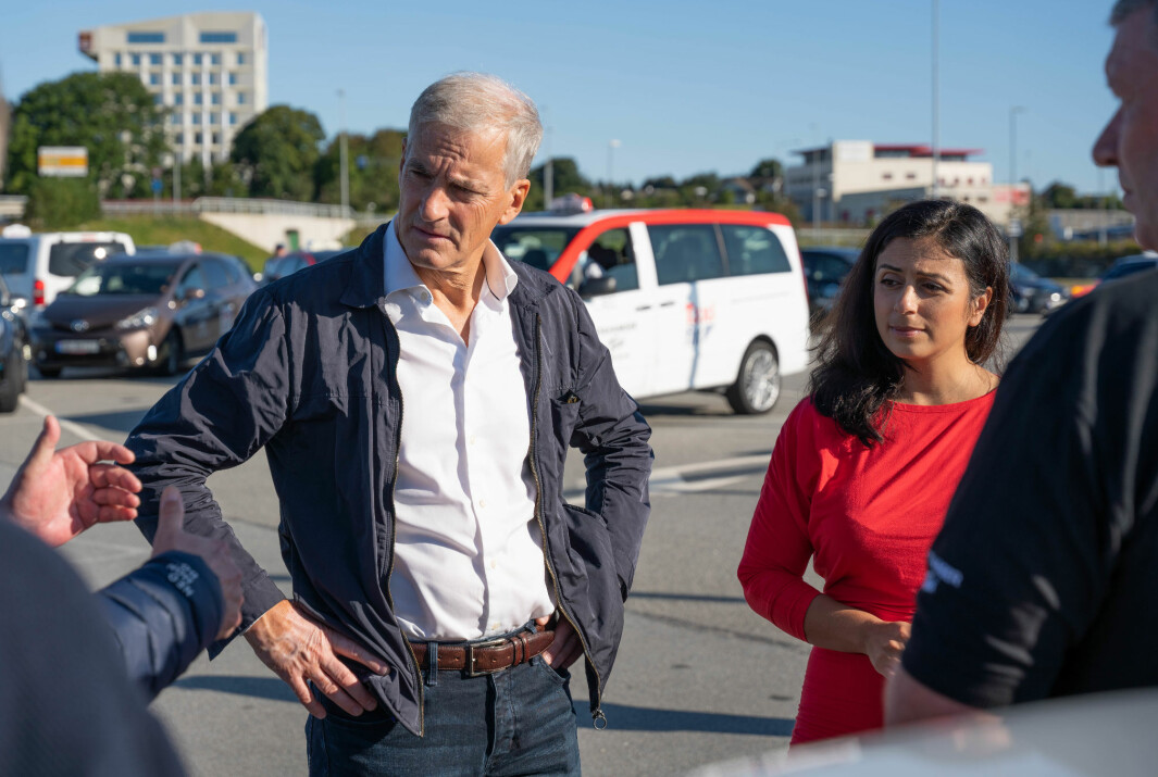…OG BILEN GÅR BRA? Jonas Gahr Støre og Hadia Tajik under valgkamp for Ap tidligere i høst.