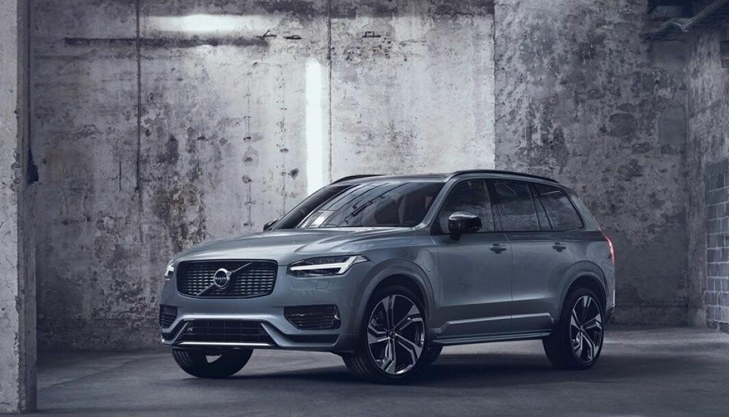 """<span class="""" font-weight-bold"""" data-lab-font_weight_desktop=""""font-weight-bold"""">MER MILJØVENNLIG: </span>Volvos største SUV, XC90, er stor og tung, men nå kan den kjøres nærmere sju mil på strøm."""