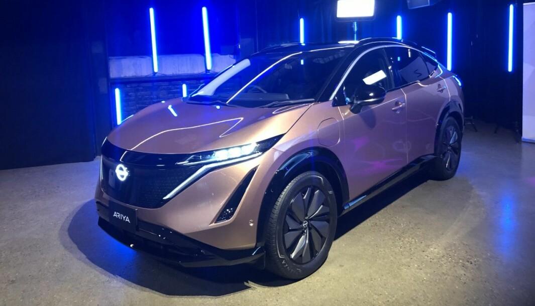 KAN BESTILLES: Mange har ventet på den nye elbilen fra en av de store ekspertene på området, Nissan. Nå kan Ariya bestilles.