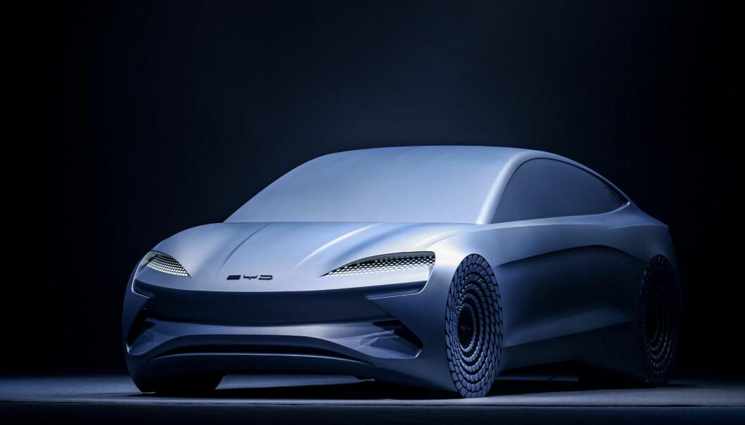 REALISTISK: Denne modellen fra BYD skal klare over 100 mil på fulladet batteri.
