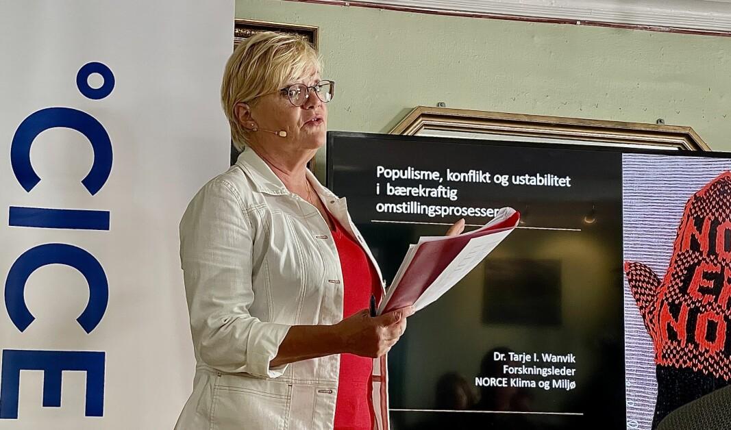 KLAR TALE: Tidligere SV-leder Kristin Halvorsen mener Senterpartiet må gå med på økning i drivstoffavgiften om regjeringssonderingene skal føre fram.