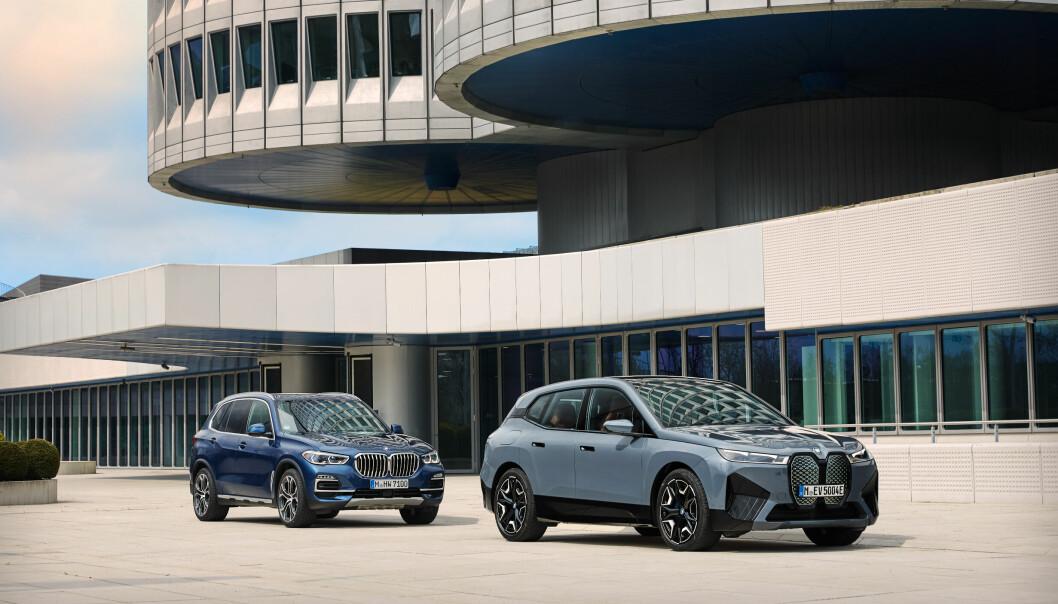 NY GRILLKONGE: BMW iX er en naturlig elektrisk arvtaker til velkjente BMW X5.