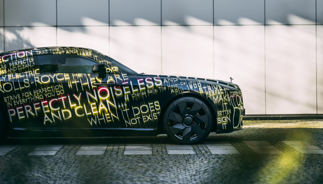 KOMMER SNART: En elektrisk utgave av bilverdens fremste luksusmerke, Rolls-Royce, er på trappene.