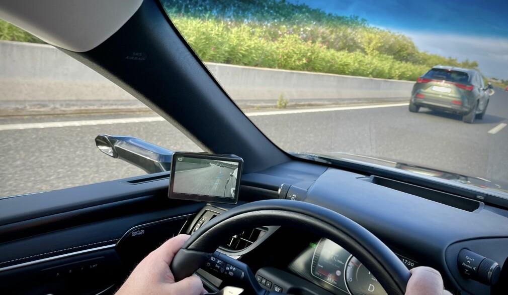 Her er kameraspeilet som skal fikse blindsonetrøbbel