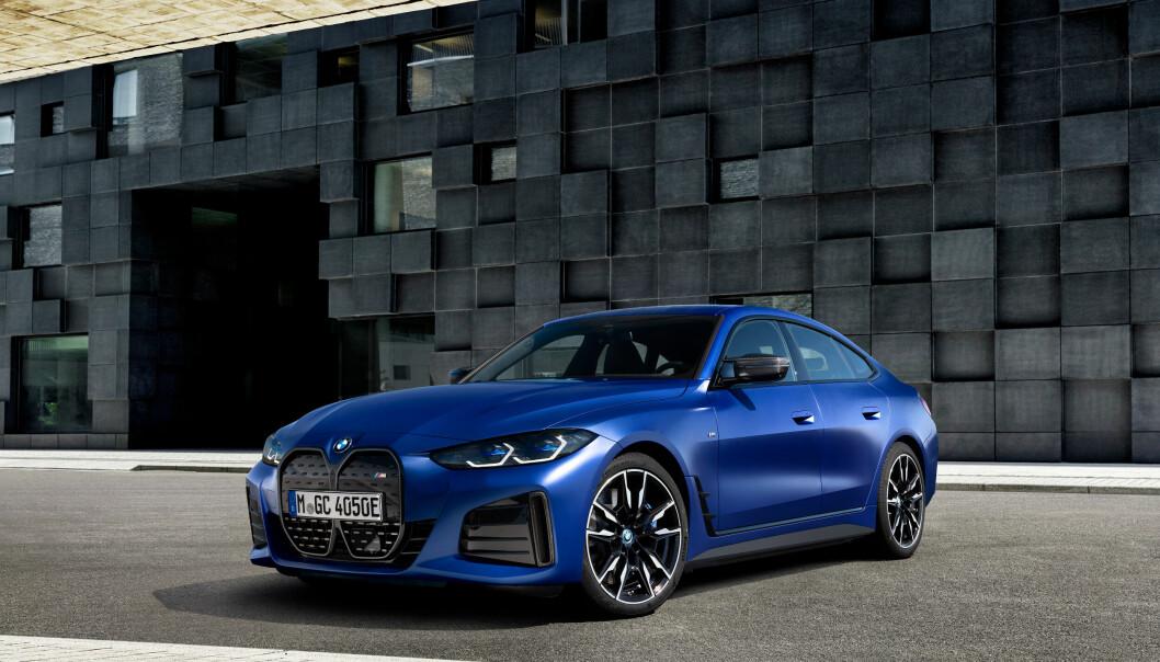 STRØMFØRENDE: BMW i4 er en av årets store bilnyheter, og den er allerede bestilt av svært mange.
